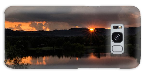 Galaxy Case featuring the photograph Sunset Reflection by Melany Sarafis