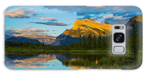 Sunset Reflections In Banff Galaxy Case