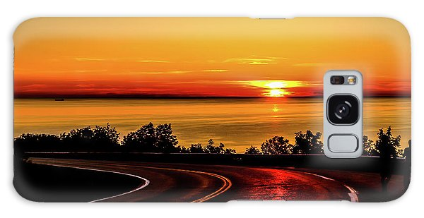 Cabot Trail Galaxy Case - Sunset Reflections1 by Claudia M Photography