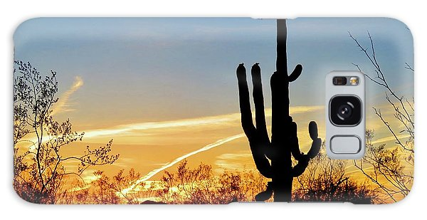 Sunset Saguaro In The Spring Galaxy Case