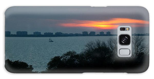 Sunset Sail On Sarasota Bay Galaxy Case