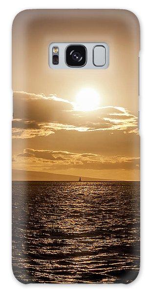 Sunset Sailboat Galaxy Case