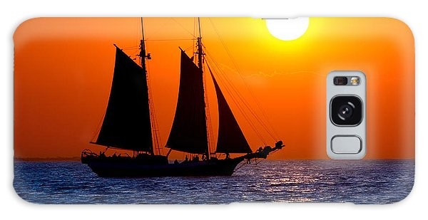 Sunset Sailing In Key West Florida Galaxy Case