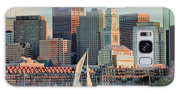 Sunset Sails On Boston Harbor Galaxy Case
