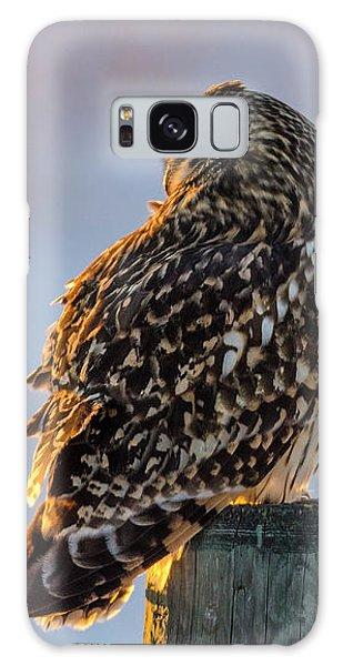 Sunset Short-eared Owl Galaxy Case