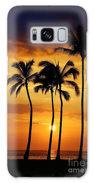 Sunset Silhouette Galaxy Case by Craig Wood