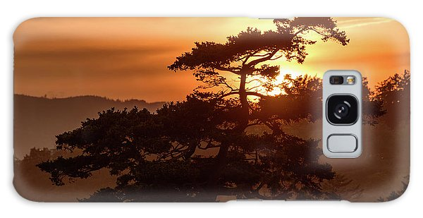 Sunset Silhouette Galaxy Case by Keith Boone
