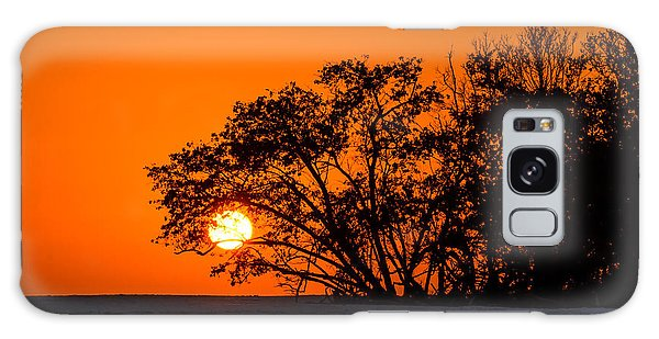Sunset Sillouette Galaxy Case