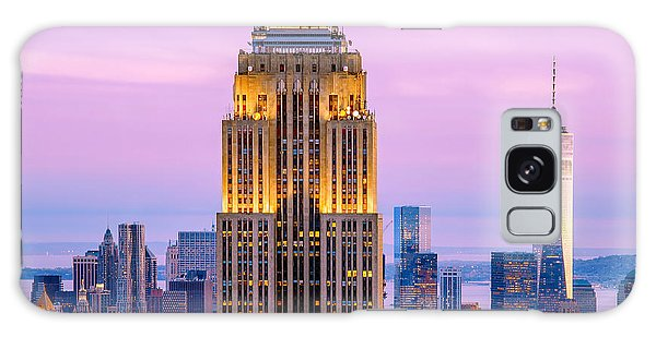 Empire State Galaxy Case - Sunset Skyscrapers by Az Jackson