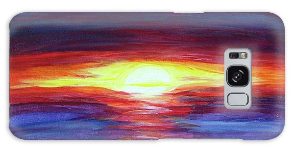 Galaxy Case featuring the painting Sunset by Sonya Nancy Capling-Bacle