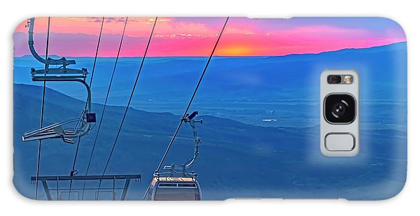 Sunset Steambot Ski Area Galaxy Case