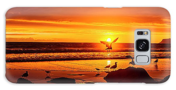Sunset Surprise Pano Galaxy Case