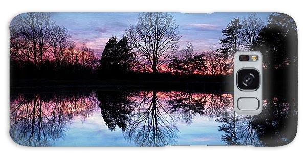 Sunset Symmetry Galaxy Case