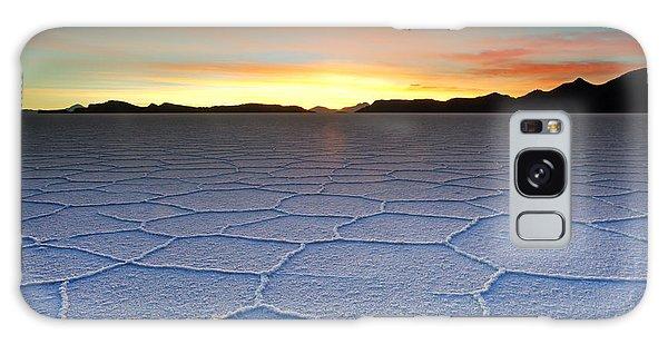 Lake Uyuni Sunset Texture Galaxy Case