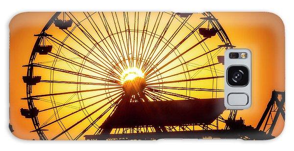 Venice Beach Galaxy Case - Sunset Through Ferris Wheel by Garry Gay