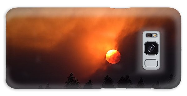 Sunset Through Smoke Galaxy Case