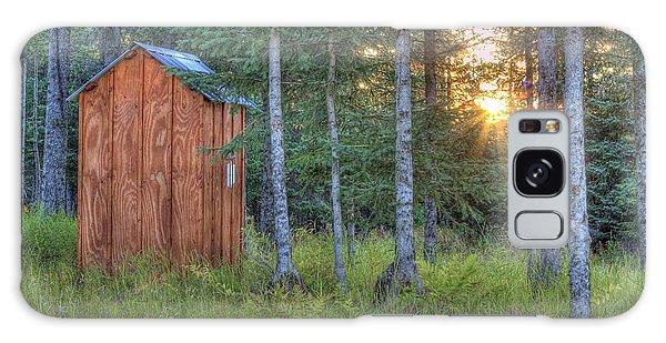 Sunset Through Spruce Galaxy Case by Michele Cornelius