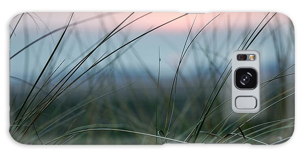 Sunset  Through The Marsh Grass Galaxy Case by Spikey Mouse Photography