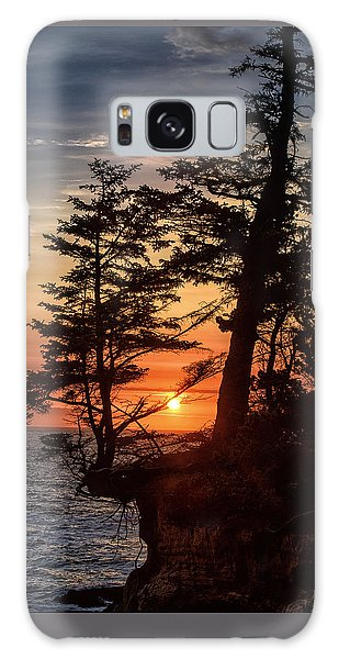 Sunset Through The Trees Galaxy Case