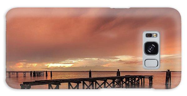 Sunset Thru Storm Clouds Galaxy Case