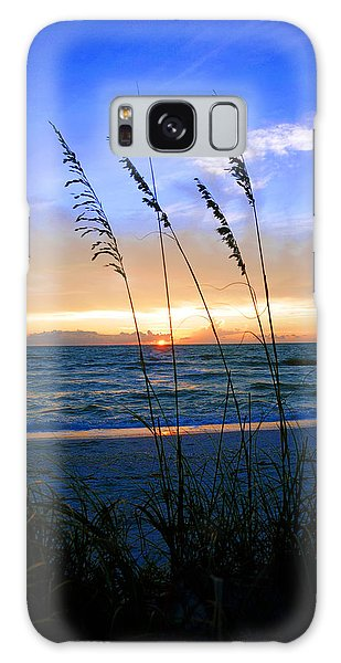 Sunset Thru The Sea Oats At Delnor Wiggins Galaxy Case