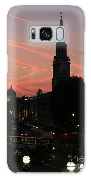Sunset View From Charing Cross  Galaxy Case by Paula Guttilla