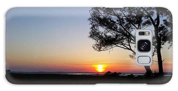 Sunset View From Knights Of Columbus' Deck Galaxy Case by Robert Banach
