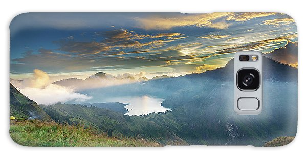 Sunset View From Mt Rinjani Crater Galaxy Case