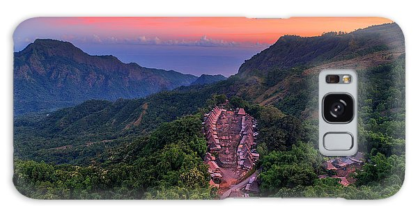Galaxy Case featuring the photograph Sunset View Of Bena Tribal Village - Flores, Indonesia by Pradeep Raja PRINTS