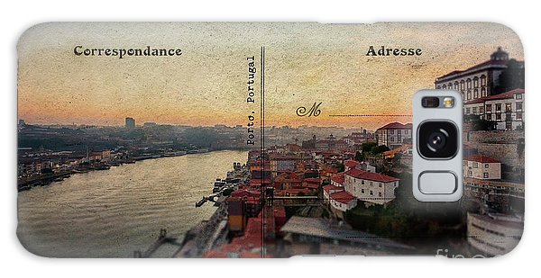 sunset view of the Douro river and old part of  Porto, Portugal Galaxy Case