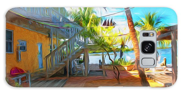 Sunset Villas Patio Galaxy Case