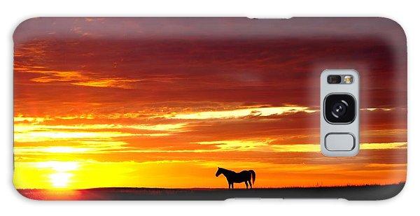 Sunset Watcher Galaxy Case