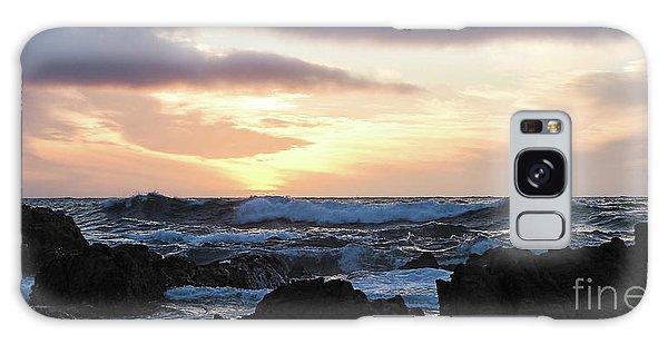 Sunset Waves, Asilomar Beach, Pacific Grove, California #30431 Galaxy Case
