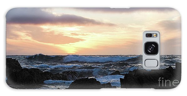 Sunset Waves, Asilomar Beach, Pacific Grove, California #30431 Galaxy Case