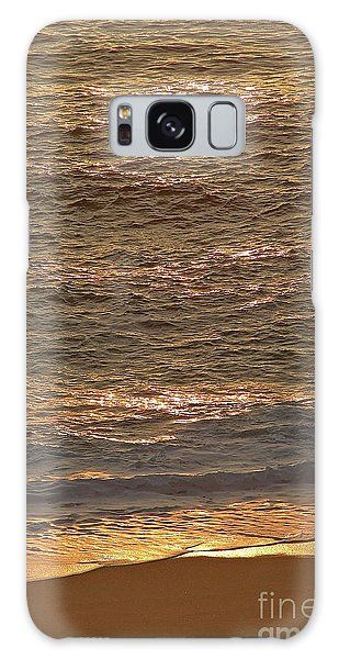 Sunset Waves Over Carmel Beach Galaxy Case