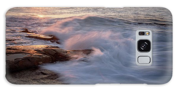 Galaxy Case featuring the photograph Sunset Waves Rockport Ma. by Michael Hubley