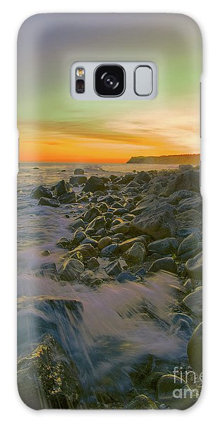 Sunset Waves Galaxy Case by Todd Breitling