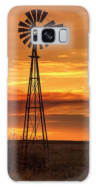 Sunset Windmill 01 Galaxy Case