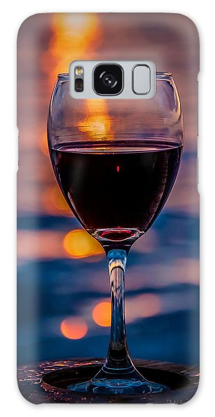 Galaxy Case featuring the photograph Sunset Wine by Michaela Preston