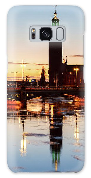 Sunset With Cityhall Of Stockholm Galaxy Case