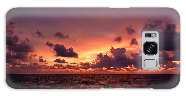 Sunset With Deep Purple Clouds Galaxy Case