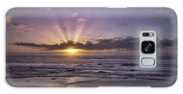 Sunset With God Beams Galaxy Case