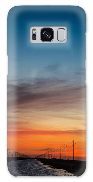 Sunset With Moon Sliver Galaxy Case