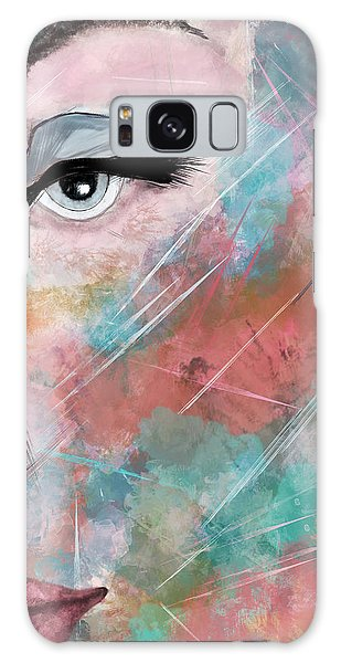 Sunset - Woman Abstract Art Galaxy Case