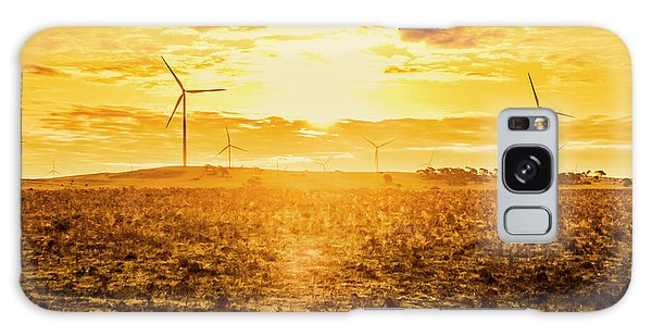 Industry Galaxy Case - Sunsets And Golden Turbines by Jorgo Photography - Wall Art Gallery