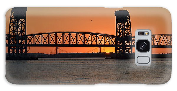 Sunset's Last Light Bridges Over Jamaica Bay Galaxy Case by Maureen E Ritter