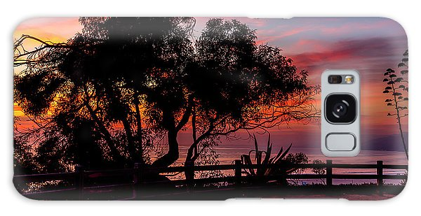 Sunset Silhouettes From Palisades Park Galaxy Case