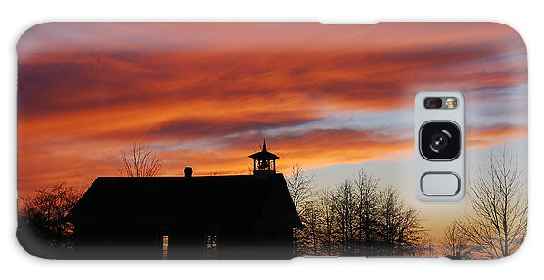 Sunsetting Behind The Historic Schoolhouse. Galaxy Case