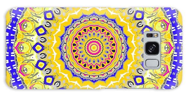 Galaxy Case featuring the digital art Sunshine And Blue Skies Mandala by Joy McKenzie
