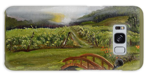 Sunshine Bridge At The Cartecay Vineyard - Ellijay Ga - Vintner's Choice Galaxy Case